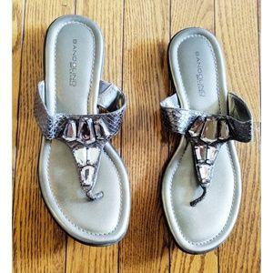 Bandolino BFlexible Sandals Silver Rhinestone, 7.5